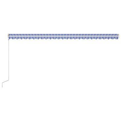 vidaXL Markis automatiskt infällbar 600x300 cm blå och vit