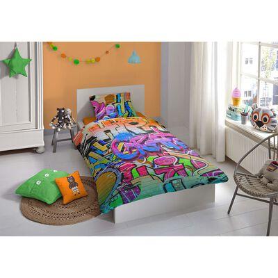 Good Morning Bäddset 5481-P GRAFFITI 135x200 cm flerfärgat