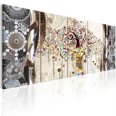 Tavla - Tree And Mosaic - 200x80 Cm