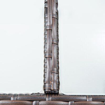 vidaXL Trädgårdsbar med dynor 7 delar konstrotting brun