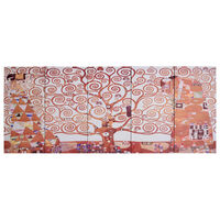 vidaXL Canvastavla träd gul 200x80 cm