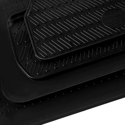 vidaXL Bilmattor set gummi 4 delar för VW Polo Ibiza