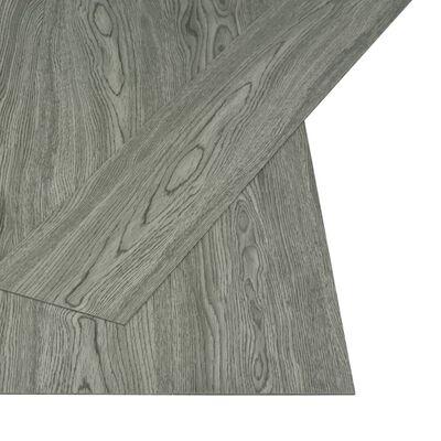 vidaXL Självhäftande golvplankor 4,46 m² 3 mm PVC grå