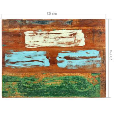 vidaXL Rektangulär bordsskiva 70x80 cm 25-27 mm massivt återvunnet trä,