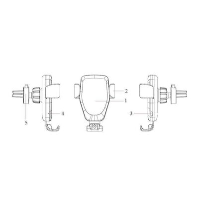 Trådlös Qi laddare - bilhållare för snabbladdning