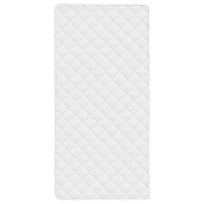 vidaXL Kviltat madrasskydd vit 90x200 cm tungt