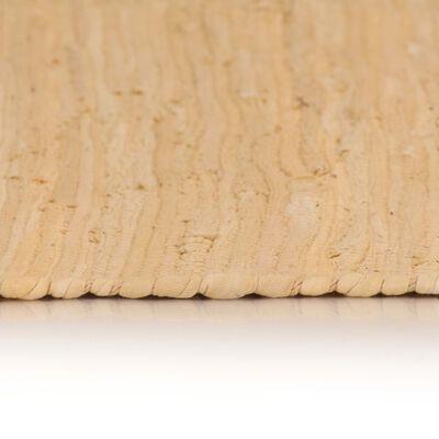 vidaXL Handvävd matta Chindi bomull 200x290 cm beige