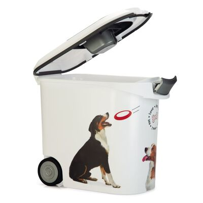 Curver Foderbehållare med hjul hund 35 L