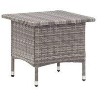 vidaXL Trädgårdsbord grå 50x50x47 cm konstrotting