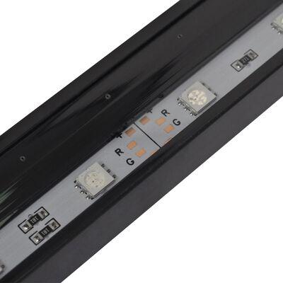 vidaXL Dränkbar akvariumlampa med bubblor RGB LED 32 cm