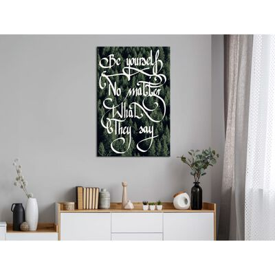 Tavla - No Matter What They Say (1 Part) Vertical - 40x60 Cm