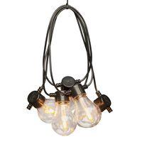 KONSTSMIDE Ljusslinga med 10 utbytbara lampor extra varm
