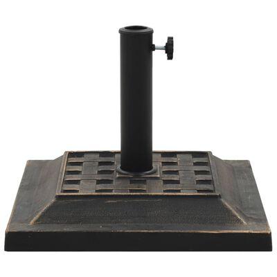 vidaXL Parasollfot fyrkantig polyresin 12 kg brons
