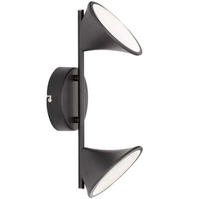 Wofi Vägglampa LED Chara Duo svart