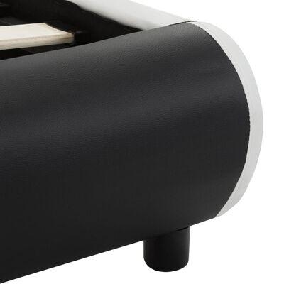 vidaXL Sängram med lådor svart konstläder 120x200 cm