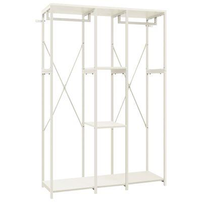 vidaXL Garderob vit 110x40x167 cm metall och spånskiva