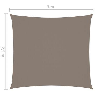 vidaXL Solsegel oxfordtyg rektangulärt 2,5x3 m taupe