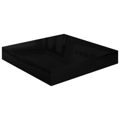 vidaXL Svävande vägghylla svart högglans 23x23,5x3,8 cm MDF