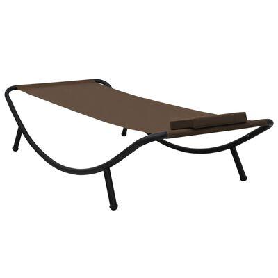 vidaXL Trädgårdssäng brun 200x90 cm stål