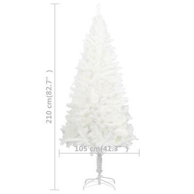 vidaXL Plastgran verklighetstrogna barr vit 210 cm