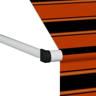 vidaXL Markis manuellt infällbar 350 cm orange och brun