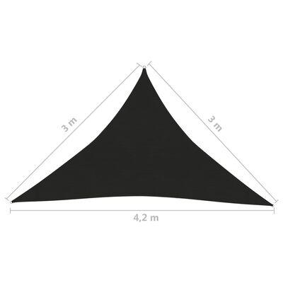 vidaXL Solsegel 160 g/m² svart 3x3x4,2 m HDPE