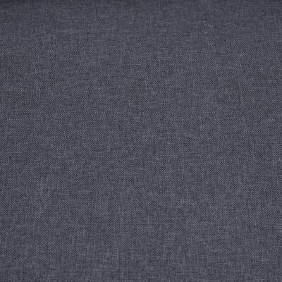 vidaXL Elektrisk reclinerfåtölj med uppresningshjälp mörkgrå tyg