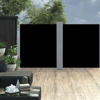 vidaXL Infällbar sidomarkis svart 160x600 cm