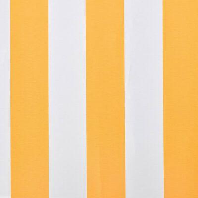 vidaXL Markisduk solros 6 x 3 m gul & vit (utan ram)