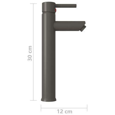 vidaXL Badrumsblandare grå 12x30 cm
