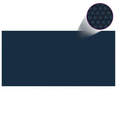 vidaXL Värmeduk för pool PE 450x220 cm svart och blå
