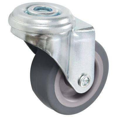 vidaXL Länkhjul med bulthål 12 st 50 mm