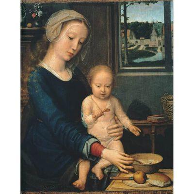 The Virgin with the Bowl of Milk,Gerard David,50x40cm