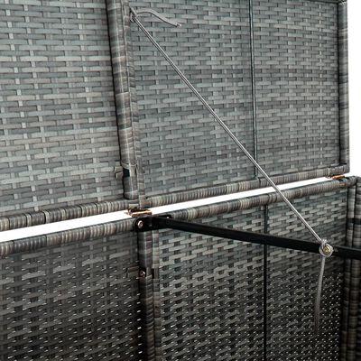 vidaXL Skjul för 2 soptunnor konstrotting antracit 148x77x111 cm