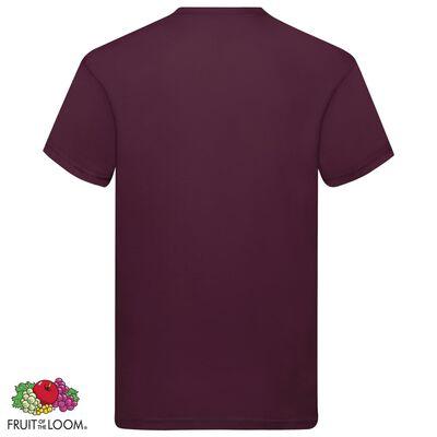 Fruit of the Loom Original T-shirt 5-pack vinröd stl. XXL bomull