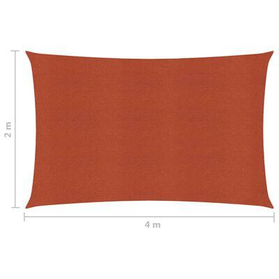 vidaXL Solsegel 160 g/m² terrakotta 2x4 m HDPE