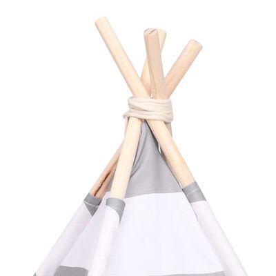 vidaXL Tipitält för katt peachskin med väska randigt 60x60x70 cm