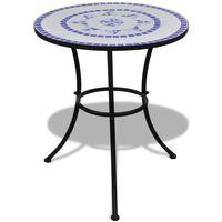 vidaXL Caféset blå och vit 60 cm mosaik