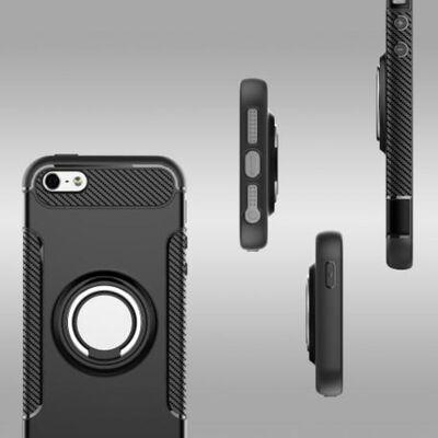 iPhone 5/5S/SE Praktisk Stöttåligt Skal med Ringhållare V2