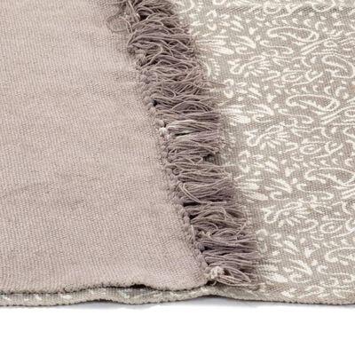 vidaXL Kelimmatta bomull 120x180 cm med mönster taupe
