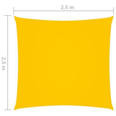 vidaXL Solsegel oxfordtyg fyrkantigt 2,5x2,5 m gul