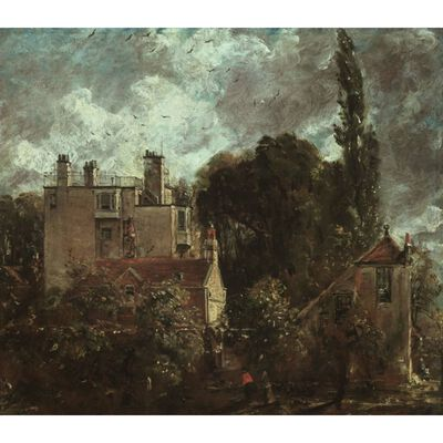 The Grove,or the Admiral-s House,John Constable,50x44cm