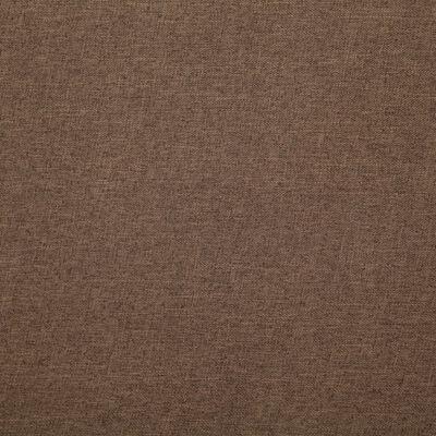 vidaXL Kubformad fåtölj brun tyg