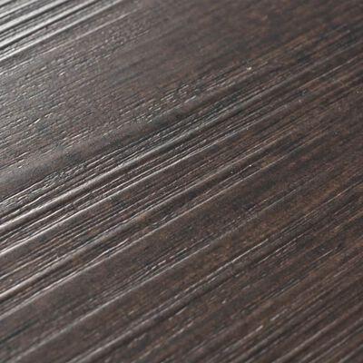 vidaXL Golvbrädor i PVC 5,26 m² 2 mm mörkgrå ek