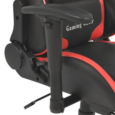 vidaXL Kontorsstol i sportbilsdesign med fotstöd röd