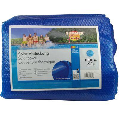 Summer Fun Solfolie runt 300 cm PE blå
