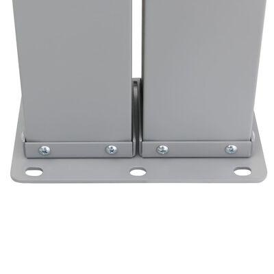 vidaXL Infällbar sidomarkis antracit 140x1000 cm