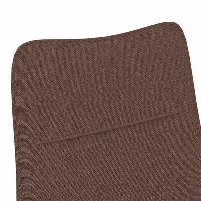 vidaXL Fåtölj med fotpall brun tyg