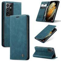 Caseme Smart Flipcase Samsung Galaxy S21 Ultra-blå