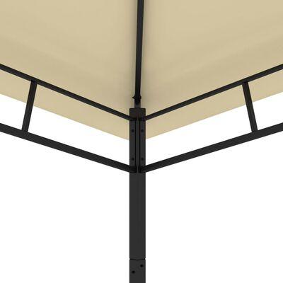 vidaXL Paviljong 3x3x2,9 m gräddvit 180g/m²